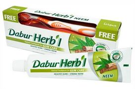 "משחת שיניים צימחית ""נים"" 150 גרם Dabur Herbal Neem אינדיאן סטור"